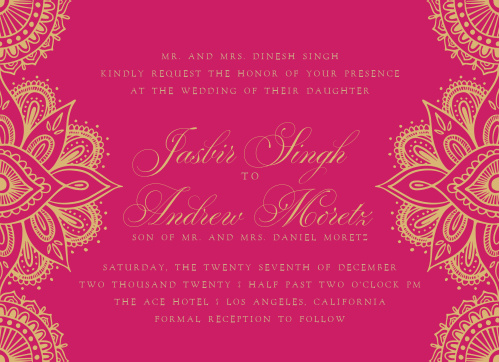 Hindu Wedding Invitations   Match Your Color & Style Free!