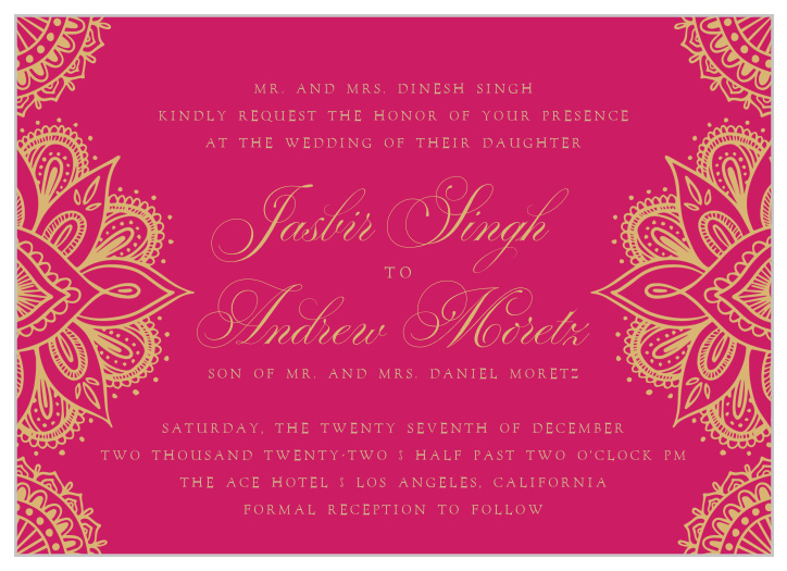 Indian Wedding Invitations Match Your Color Style Free