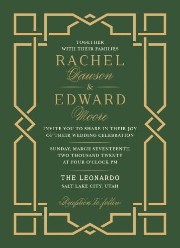 Emerald Border Wedding Invitations