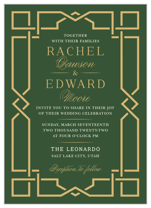 Celtic Wedding Invitations Match Your Color Style Free