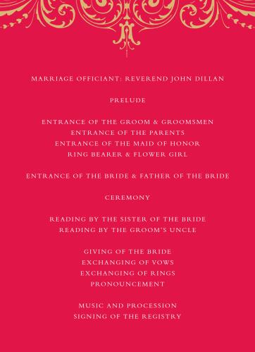 Embellished Love Wedding Programs