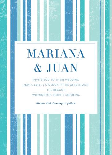 Beach Blanket Wedding Invitations