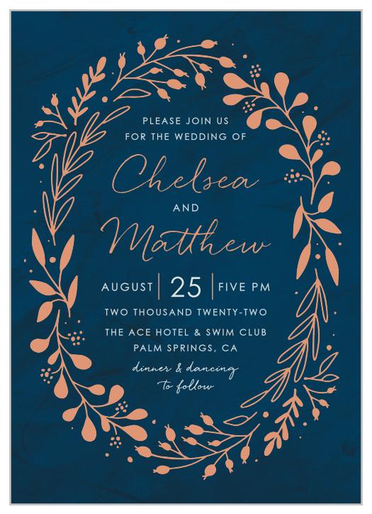 Floral Wedding Invitations Navy Wedding Invitations Boho Wedding Invitations Printable Wedding Invitations Wedding Invitations Feather