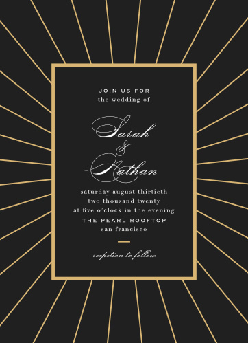 Starburst Frame Wedding Invitations