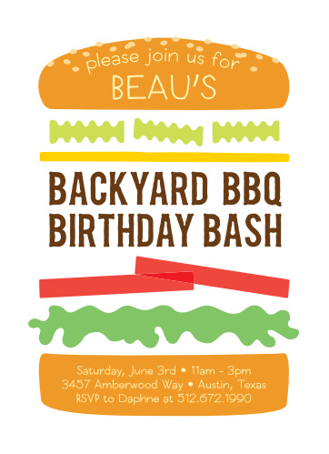 barbecue birthday invitations match your color style free