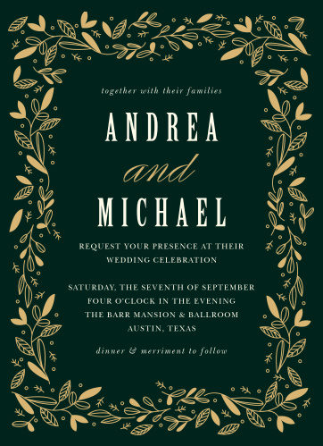 Autumn Forest Wedding Invitations
