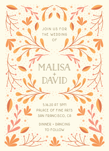 fall wedding invitations match your color style free