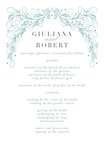 Fairytale Frame Wedding Programs