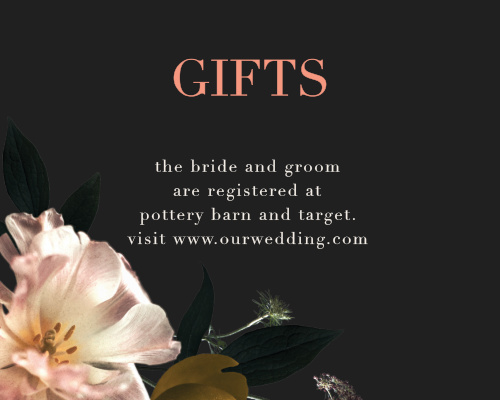 Dark Dutch Florals Registry Cards