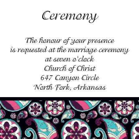 The Forever Paisley Ceremony Cards