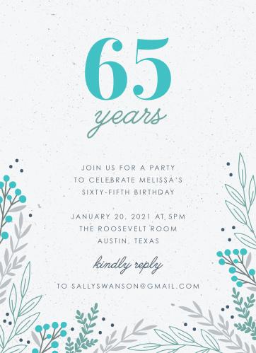 In The Garden Milestone Birthday Party Invitations