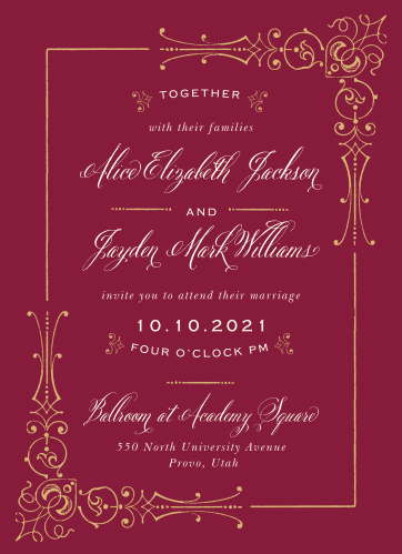 Fairytale Wedding Invitations Match Your Color Style Free