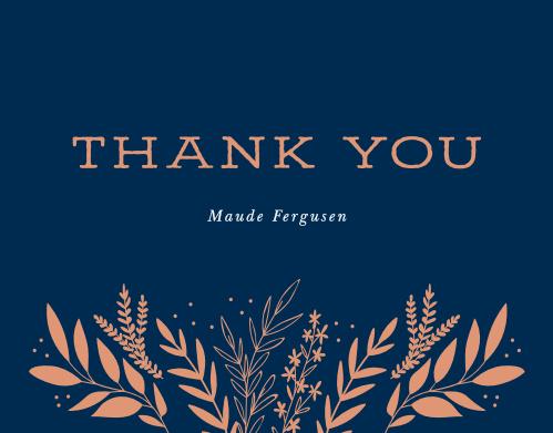 Wild Fields Milestone Birthday Thank You Cards