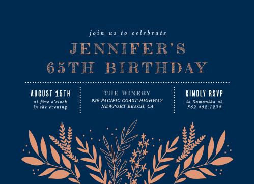 Wild Fields Milestone Birthday Party Invitations