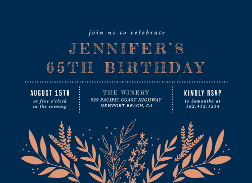 Wild Fields Milestone Birthday Party Invitations
