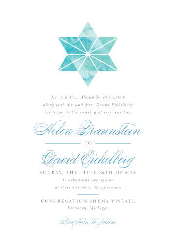 Watercolor Star Wedding Invitations