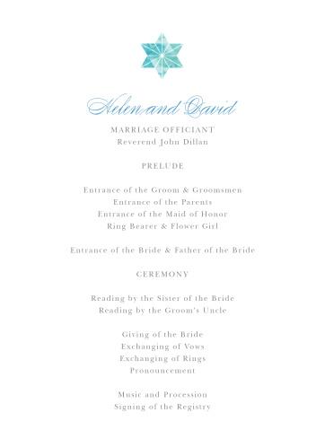 Watercolor Star Wedding Programs