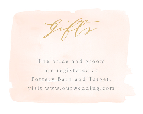 Simple Romance Registry Cards