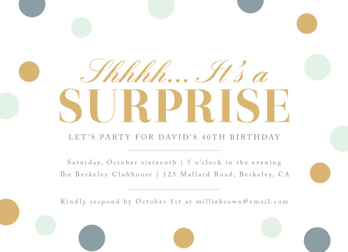 Surprise Confetti Milestone Birthday Party Invitations