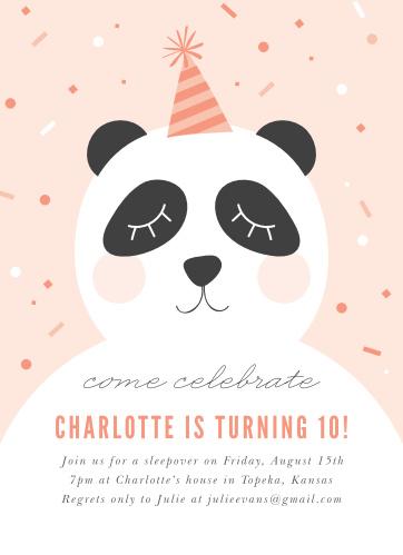 Party Panda Childrens Birthday Invitations
