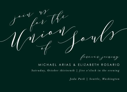 Union Of Souls Wedding Invitations