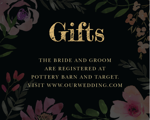 Gothic Flowers Registry Cards