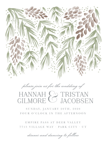 winter wedding invitations match your color style free
