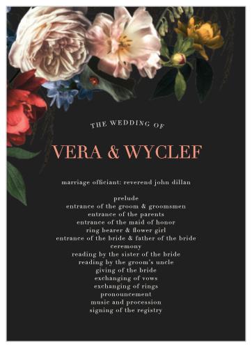 Dark Dutch Florals Wedding Invitations By Basic Invite