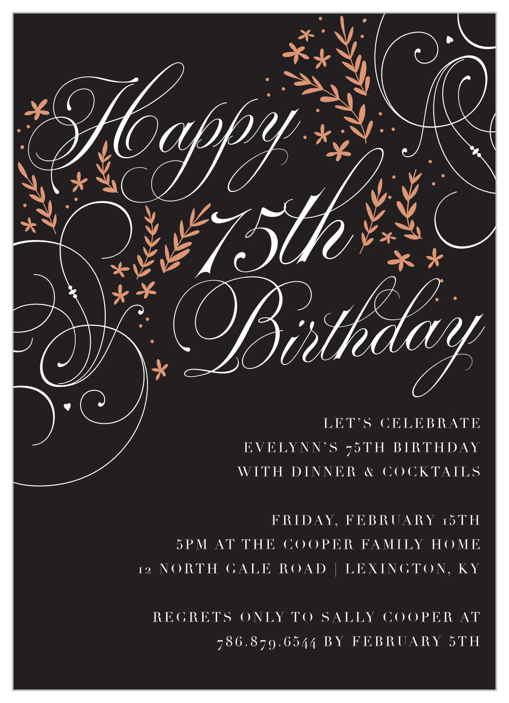 adults birthday party invitation wording