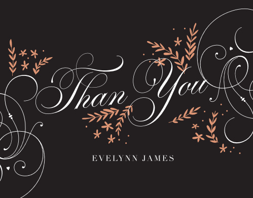 Stately Botanicals Milestone Birthday Thank You Cards
