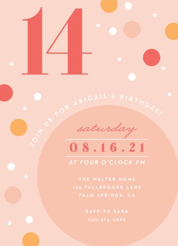 Circle Sorbet Childrens Birthday Party Invitations