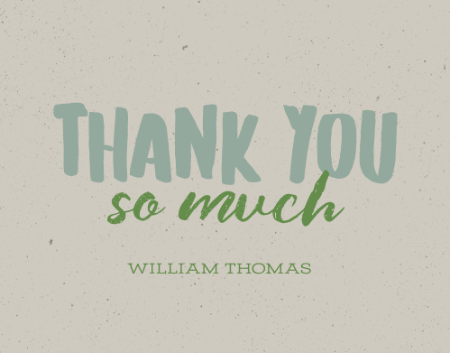 Billboard Type Milestone Birthday Thank You Cards