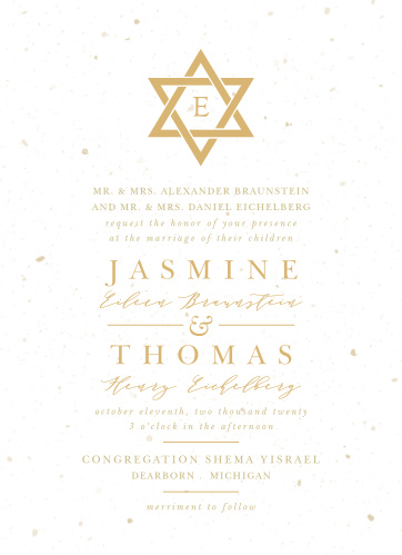 Jewish Wedding Invitations Match Your Color Style Free