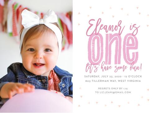 Big One Childrens Birthday Party Invitations