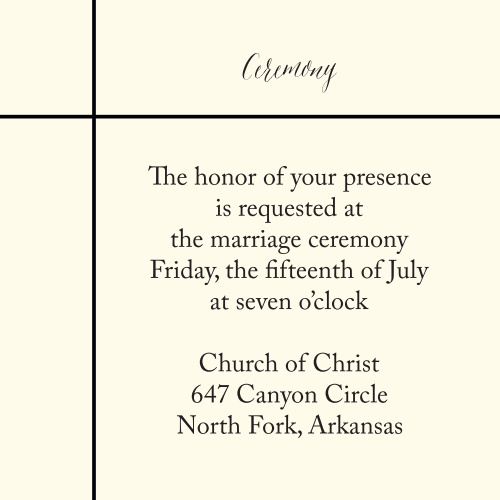 Pure Simple Lines Ceremony Cards