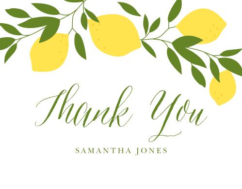 Lemon Grove Bridal Shower Thank You Cards