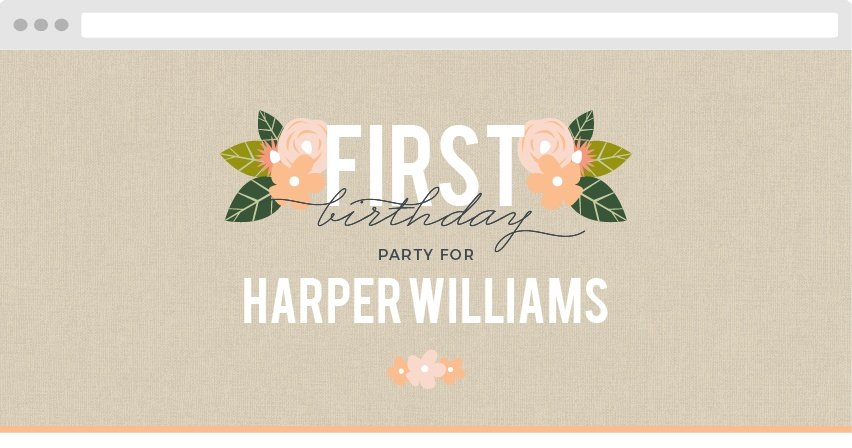 Herbaceous Babe Birthday Website