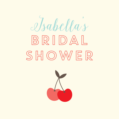 cherry swirl bridal shower stickers