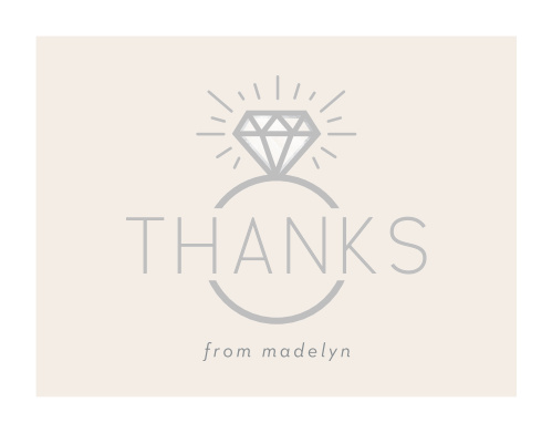 Diamond Ring Bridal Shower Thank You Cards
