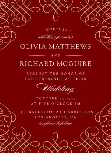 Ornate Border Wedding Invitations