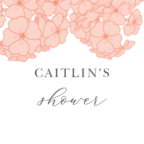 hydrangea blooms bridal shower stickers