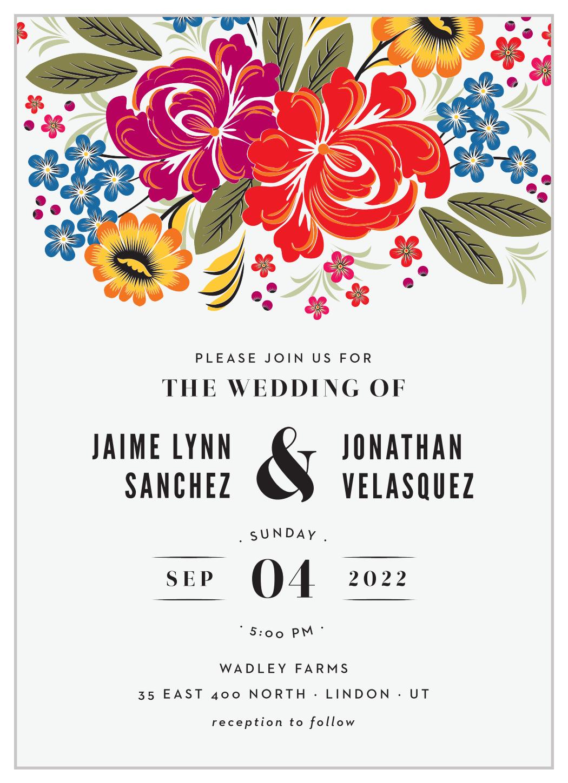 Spanish Florals Wedding Invitations