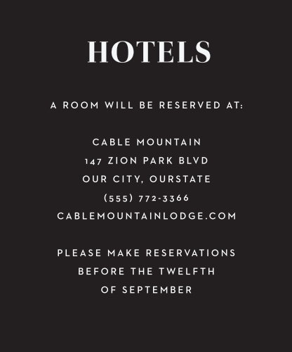 Spanish Florals Accommodation Cards