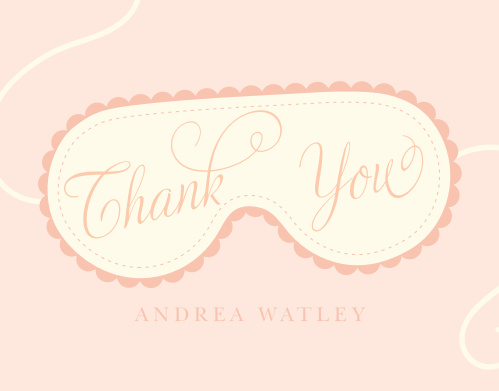 Spa Day Bridal Shower Thank You Cards
