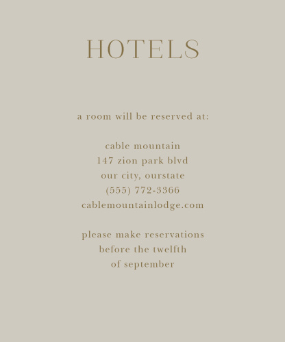 Fairytale Leaves Accommodation Cards