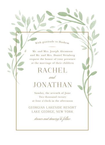 Fairytale Leaves Wedding Invitations