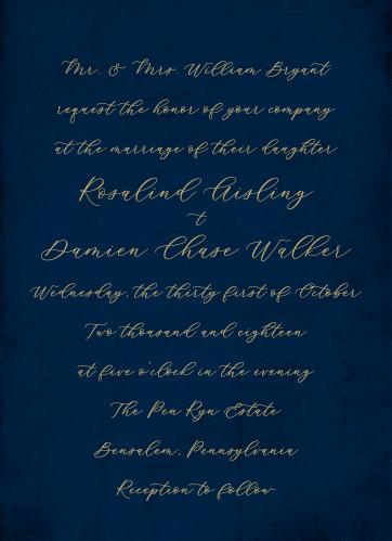 Moody Calligraphy Wedding Invitations