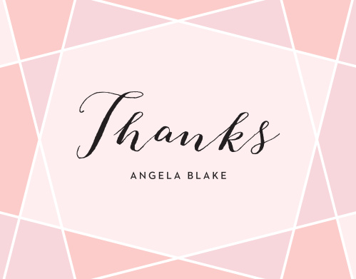Geometric Color Bridal Shower Thank You Cards
