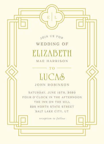 Irish Deco Wedding Invitations By Basic Invite