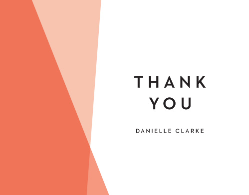 Mod Angles Bridal Shower Thank You Cards